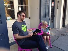 Tehya and I catching up on gossip in the French Quarter of New Orleans! #brettlark #thecureforcancer