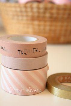 Pretty pink & gold #washi tape