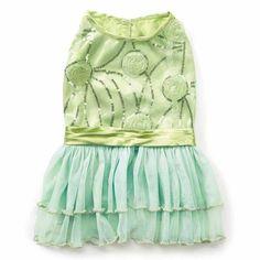 Zack and Zoey Jenny Dog Dress - Mint