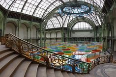 "Daniel Buren- Installation: ""Monumenta 2012 at the Grand Palais, France."""