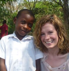 Sophie with Herbert, a sponsored child through World Vision.