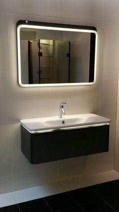 Vitra nest washbasin unit with led basin designed by Pentagon designs