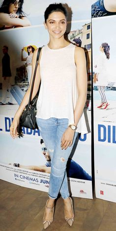 Deepika Padukone at a screening of 'Dil Dhadakne Do'.