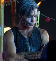Till Lindemann on the video set of Mein Land