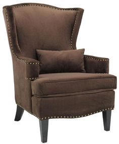 """$327.99 Testoni Wing Back Chair, 41""""Hx30""""W, SOLID VLVT BRWN  From Home Decorators Collection   Get it here: http://astore.amazon.com/ffiilliipp-20/detail/B005G3Z6TQ/186-5615991-9718713"""