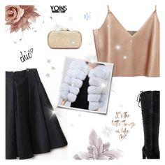 """Yoins VII: FOX COAT"" by paradiselemonade ❤ liked on Polyvore featuring NERIDA FRAIMAN, yoins, yoinscollection and loveyoins"