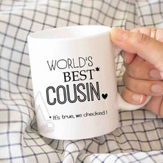Gifts For Cousin Christmas Gift Worlds Best Funny Coffee Mug Birthday Wedding Quotes MU508