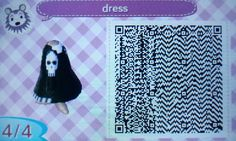 Skull Sweater, Animal Crossing Qr, New Leaf, Coding, Qr Codes, Striped Dress, Animals, Dresses, Vestidos