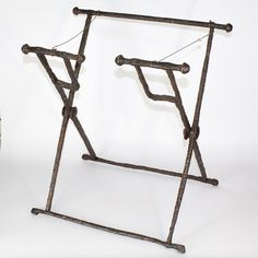 * A Roman Iron Campaign Folding Stool (Stella Castrensis), Roman Imper | Sands of Time Ancient Art