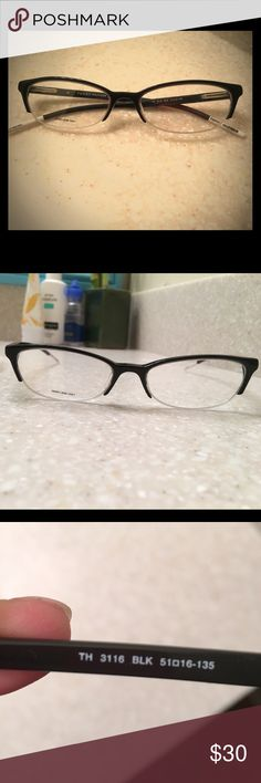 ec7b6bee39f NWOT BLACK CAT EYE TOMMY HILFIGER GLASSES FRAMES A friend caused my glasses  break and replaced