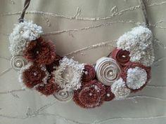Necklace with Denim jewelry Bib Necklace daily by Fialo4ka555