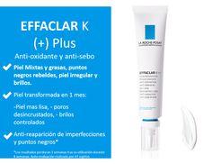 EFFACLAR K Plus, piel grasa madura, piel mixta, acné comedónico, puntos negros, poros abiertos, Precio: $237