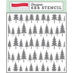 Oh Christmas Tree Echo Park 6x6 Stencil Christmas Winter Mixed Media  Scrapbook Card Making Home Decor DIY Pine Evergreen by InkyHotMess on Etsy