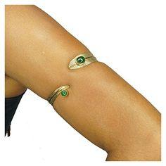 Brass Swirl Armlet- Upper Arm Cuff Bracelet Armband by The Urban Turbanista