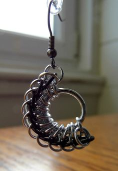 Chainmaille Earrings by Safrolistics on Etsy, £12.00
