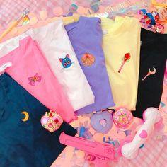 Sailor moon that very kawaii 💞💞💞💞 Sailor Moon Shirt, Sailor Moon Luna, Sailor Moon Clothes, Kawaii Clothes, Kawaii Fashion, Aesthetic Clothes, Cool Shirts, Cute Outfits, Pink Outfits