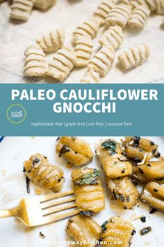 This Paleo Cauliflower Gnocchi is better than Trader Joe's! It's easy to make and really delicious. Tastes like the real deal but better for you and allergen friendly!
