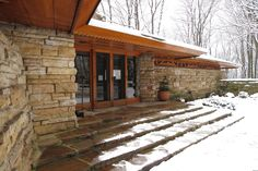 Kentuck Knob (with some snow)--the design seems simple at first, but the more you see, the more you find...it's actually quite beautiful...