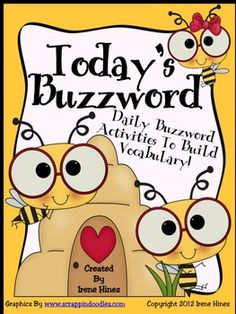 "Expand your students' vocabulary with this amazing 130 page unit.   ~ A variety of posters were created to differentiate. Depending on your students' needs, choose the relevant posters to display in your classroom.   ~180 different ""buzzwords"" as well as open word strips to create your own ""buzzwords"".   ~ A large variety of vocabulary graphic organizers and printables for individual, group and whole class lessons  ~ Best practices teaching guide for vocabulary instruction."