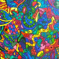 """Abstract """"Wavy Snake"""", Pen and Ink on Etsy, $45.00"""