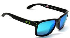 New Polarized Oakley Holbrook Moto GP Series Sunglasses Polished Black/Emerald Iridium Oakley Holbrook, Oakley Sunglasses, Emerald, Shades, Motogp, Bling Bling, Clothes, Image, Fashion