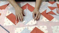 Patchwork Ao Vivo #47: método americano de costura rápida + bloco Card T...