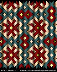 Medieval Pattern – All Tapestry Crochet Bargello Patterns, Bargello Needlepoint, Tapestry Crochet Patterns, Weaving Patterns, Needlepoint Stitches, Cross Stitch Embroidery, Embroidery Patterns, Cross Stitch Patterns, Plastic Canvas Stitches