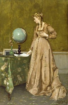 News From Afar, by Alfred Stevens, ca 1868.