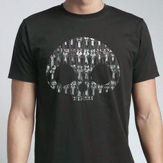 メンズスカルプリントTシャツ