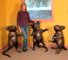 Boy's Night Out (Enlargement) 2 011 / Edition of 15 x x (each) Georgia, Art Connection, Seattle Art, Whidbey Island, Human Figures, 3 Arts, Hand Art, Bronze Sculpture, Pools