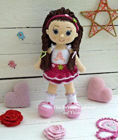 PATTERN - Doll Andy - crochet pattern, amigurumi pattern, PDF