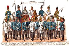 Prussian Curassiers, Dragoons, and Light Cavalry 1900-1908