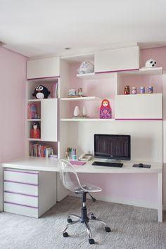 Selecionamos 6 bancadas de estudos bonitas presentes em quartos de crianças e adolescentes. Inspire-se!