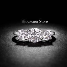 Pear Truffle 3 diamond White Gold by BijouxenorStore on Etsy Wedding Engagement, Wedding Rings, Solitaire Engagement, Princess Cut, Truffles, Heart Ring, White Gold, Band, Diamond