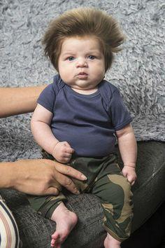 Menino de dois meses pode ser o bebê mais cabeludo do mundo