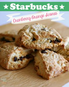 Copycat Starbucks Cranberry Orange Scones SuperGlueMom.com