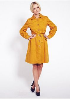 Yellow Orla Kiely Trench Coat Ethical Shopping, Dress Me Up, Capsule Wardrobe, Trench, Knitwear, Organic Cotton, Orla Kiely, Yellow, How To Wear