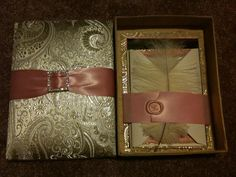 Silk and Satin Box DIY Invitations