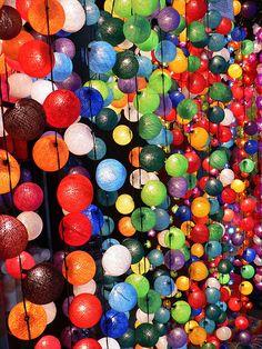 Colourful Lights, Night Market, Chiang Mai, Thailand