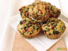 Muffin salati con cotto e spinaci  #ricette #food #recipes