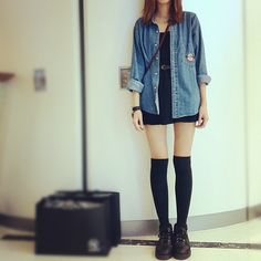估你地唔到 - @siucheukk- #webstagram Girls Jeans, Denim Fashion, Jackets, Style, Down Jackets, Swag, Cowgirl Fashion, Denim Outfits, Outfits