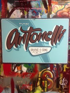 hand painted traditional retro sign painted for dan antonelli from signcraft magazine by chris dobell dobell signs north america canada