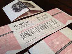 Custom Fold Wedding Invitation: Coral and Grey Chevron on Etsy, $2.25