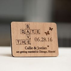 Scrabble Save the Date Magnets Laser cut and by StylineDesigns