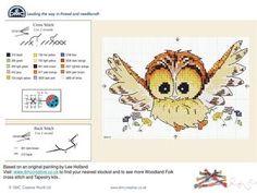 Ollie Owl cross stitch chart