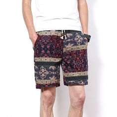 19b805869d61 2017 Summer Men s Beach Shorts Personality Printing Thin Section Breathable  Comfort Casual Men s Linen Shorts Plus Size M 5XL 3-in Shorts from Men s ...
