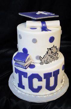 tcu rugby cake - Google Search College Graduation, Graduation Ideas, Graduation Gifts, Rugby Cake, Graduation Cupcakes, Dream School, Grad Parties, Cupcake Cookies, Troy