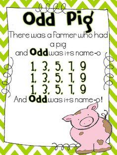 Math Songs for Odd & Even! SO perfect to help children memorize odd/even numbers! Math Classroom, Kindergarten Math, Teaching Math, Teaching Ideas, Classroom Ideas, Teaching Numbers, Teaching Time, Teaching Strategies, Preschool Learning