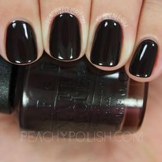 I predict THIS will become THE NEW DARK POLISH of the year! OPI Shh…it's Top Secret! A super dark, not-quite-black, cool-toned chocolate brown creme