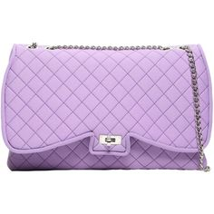 Leghilà Women Butterfly Quilted Neoprene Shoulder Bag (£125) ❤ liked on Polyvore featuring bags, handbags, shoulder bags, purple shoulder bag, butterfly purse, purple handbags, quilted shoulder bag and shoulder handbags